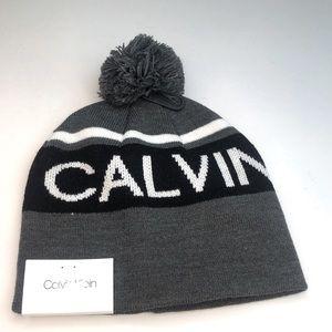 Mens Calvin Klein knit Pom Pom beanie